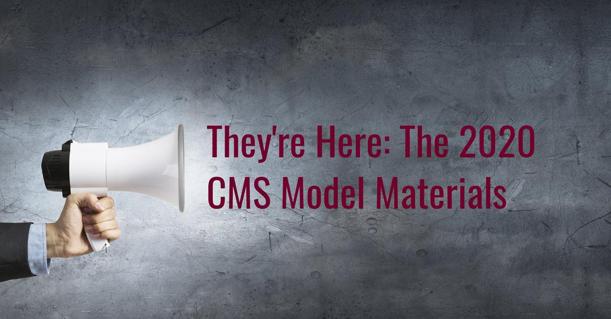 2020 CMS Model docs