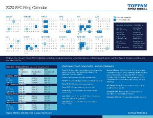 2020 Toppan Merrill SEC One-Page Calendar