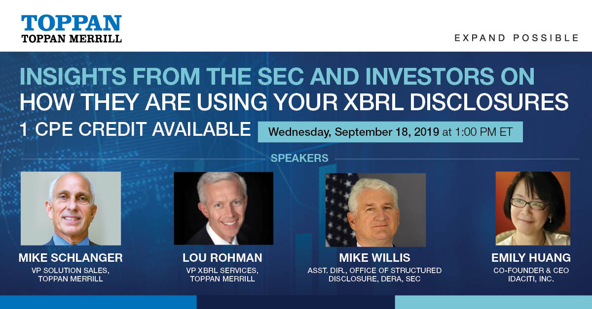 Webinar: Insights from the SEC and Investors on How They are